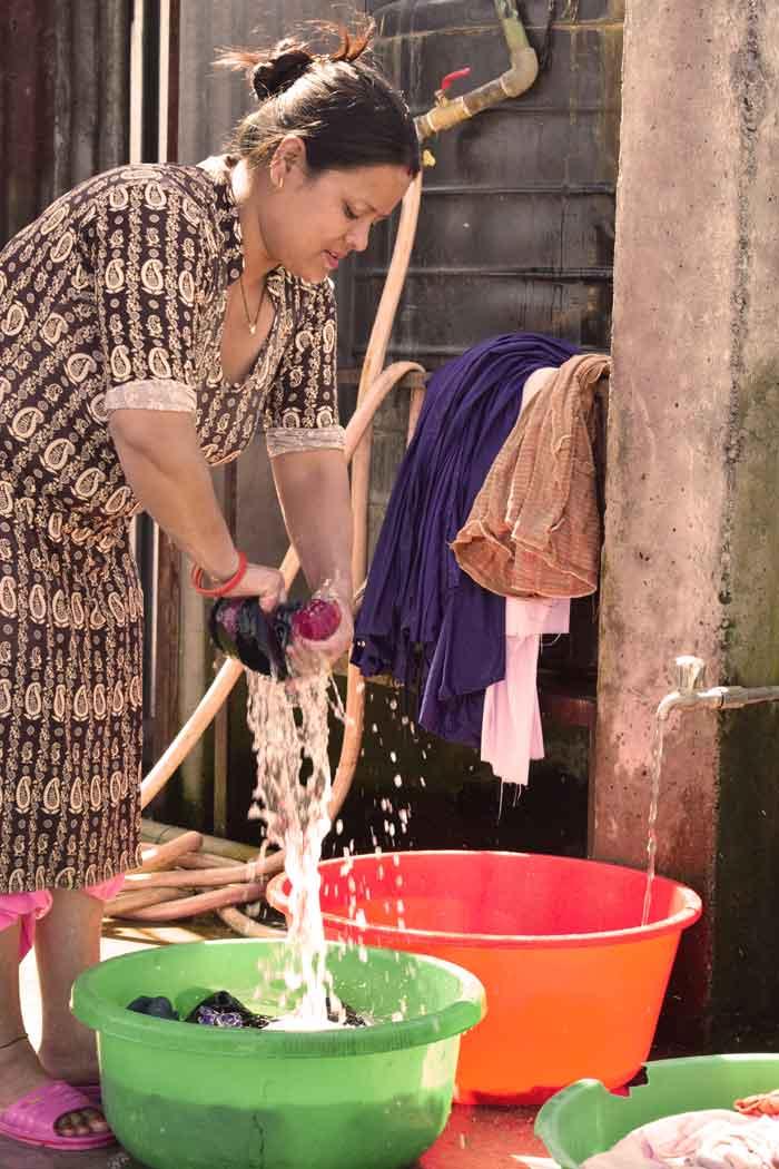 Laundry services- RadhaKrishna girls and boys hostel